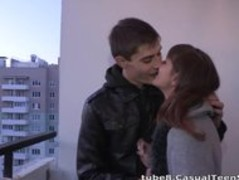 Casual Teen Sex - Hot casual fuck in a hallway Thumb