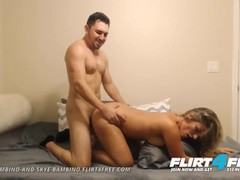 Flirt4Free Models Enzo and Skye - Dude with Big Cock Fucks His Hot Girlfriend Hard Thumb