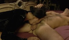 Horny Asian Love Vibrator and Huge Cock in her Pussy Thumb