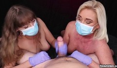 Masked Cock Milking POV Handjob with Teen and MILF - FinishHi Thumb